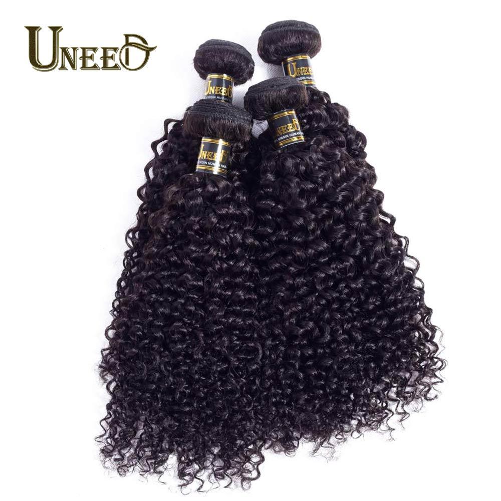 Малайзии странный вьющиеся переплетения человеческих волос 4 Связки 100% Волосы remy Расширения Natural Цвет Инструменты для завивки волос Беспла...