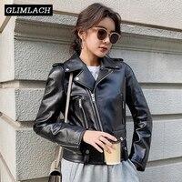 Femmes grande taille en peau de mouton en cuir véritable vestes automne Slim moto Biker veste dames en cuir véritable manteaux Chaqueta Mujer