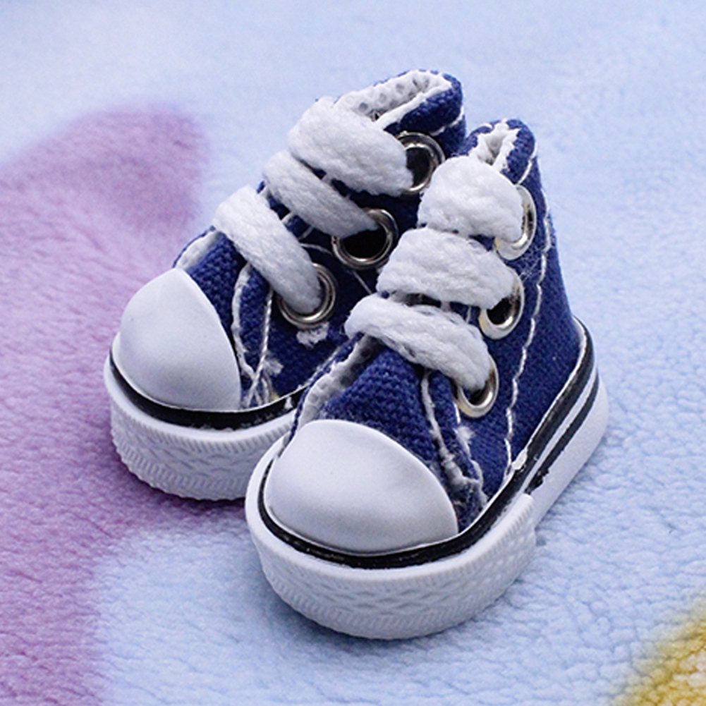 1 Pair Lace Up Joint Baby Fashion Mini Gift Toy Accessories Canvas Handmade Girl Boy Toy Sneakers DIY Doll Shoes