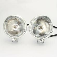 free shipping 2X Motorcycle Headlight Fog Passing Lights Bulb For Honda Yamaha Suzuki Kawasaki