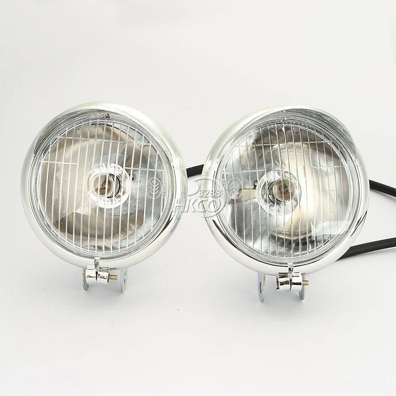 free shipping 2X Motorcycle Headlight Fog Passing Lights Bulb For Honda Yamaha Suzuki Kawasaki ...