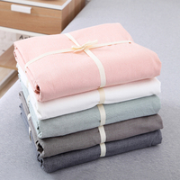 1 Piece Pink/Grey/Stripe Washed Cotton Duvet Cover Solid Non ball Soft Comfortable Student Comforters Quilt Cover Single Double