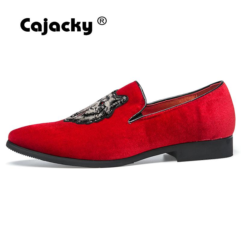 Cajacky Men Red Loafers Wolf Gentleman Loafers Luxury Brand Dress Loafers  Big Size Men Casual Shoes Party Prom Shoes Men 10 9.5-in Men s Casual Shoes  from ... 8e3577027ea5