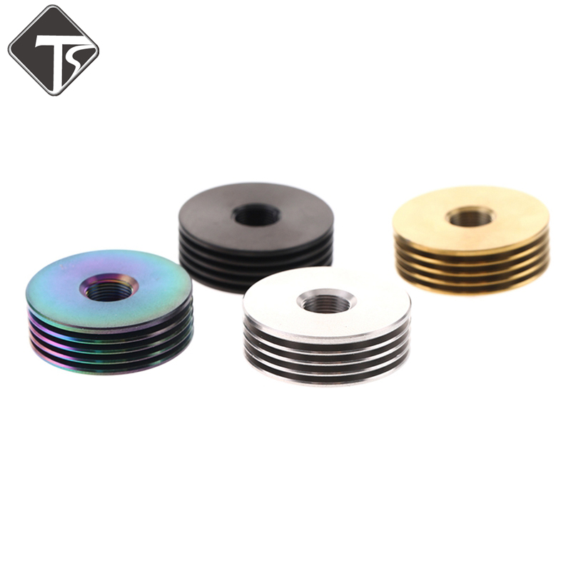 TsonDianZ 22/24mm Metal 510 Finned Heat Sink Adaptor For Thread 510 RDA RTA Atomizer Vape Box Kit DIY Accessories E Cig