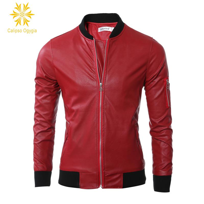 New Spring Calipso Ogygia Mens Leather Jacket Slim fit Biker Motorcycle jacket Moto Hombre Casaca De Cuero M-3XL