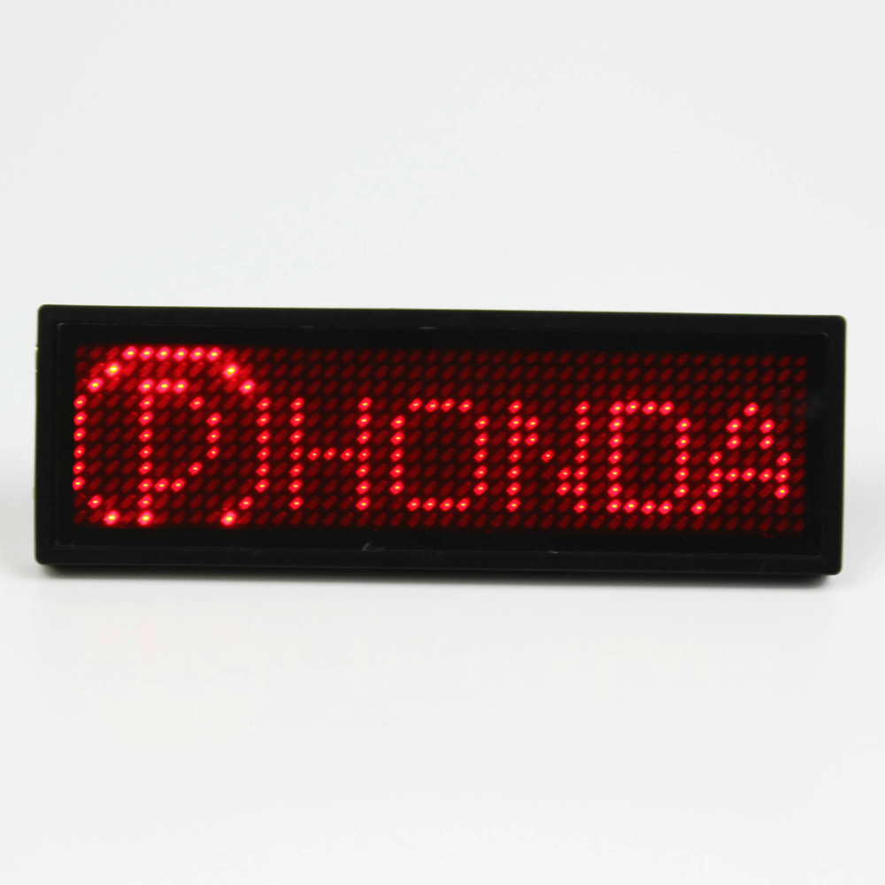 5 Different Colors Usb Rechargeable Multi-language LED Name Badge With Scrolling Message