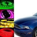 Qook 4 pcs carro levou luz de tira impermeável 12 v branco rosa orange Luz verde 30 cm 15 Tiras de LED Flexível de Néon Bar Do Motor Do Carro caminhão