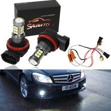 2X H11 9006 HB4 LED Fog Light Bulb Auto Car Driving Lamp Bulbs For Mercedes Benz
