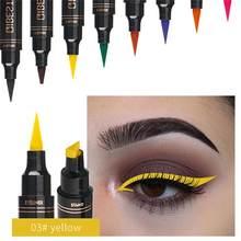 Snel Droog Zwarte Eye Liner Kleurrijke Seal Stempel Vloeibare Eyeliner Pen Waterdicht Potlood Met Eyeliner Cosmetische Double-Ended Eyeliner