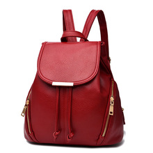 Frauen rucksack 2017 lässige mode PU schultertasche top-qualität 5 farbe rucksack Bolsa Feminina