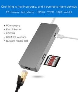 Image 4 - Док станция Thunderbolt 3 стандарта USB Type c на HDMI, Ethernet, RJ45, USB 3,0