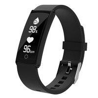 Previsão do tempo Relógio inteligente Coração Taxa de pulso de Oxigênio No Sangue de Detecção de Suporte a Bluetooth 4 Pulseira de Monitoramento Sono Botão de Toque de Presente