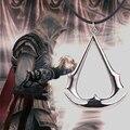 Colar jogo assassins creed Altair Ezio Connor Desmond ouro prata pingente de corda de couro jóias para homens e mulheres por atacado