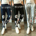Mens Joggers   Pants 2017 Brand Male Cargo Pants Slim Pattern Printing  Tights Trousers Compression Men Jogger