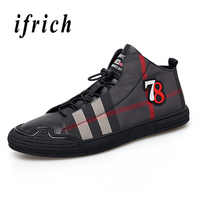 2018 Youth Casual Footwear Men Black Gray Walking Shoes Men Genuine Leather Male Flats Shoes Comfortable Men Luxury Brand Shoes