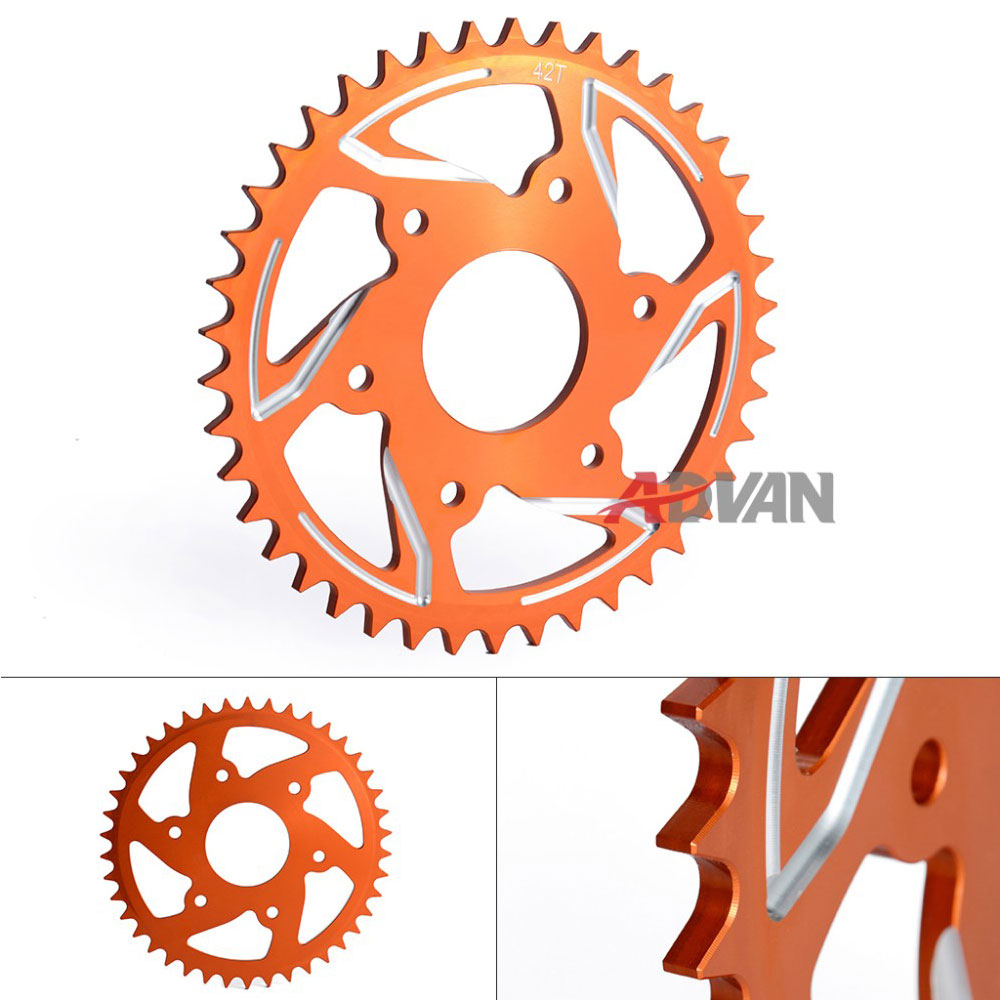 47T CNC Orange Aluminium REAR SPROCKET For KTM DUKE 200 390 hot sale motorcycle leather passenger pillion rear seat for ktm 390 duke black red orange