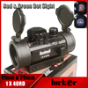 Military Tactical Hunting Holographic 1x40mm Airsoft Cross Hari Red Green Dot Sight Rifle Scope Match 11 & 20mm Rail Mount