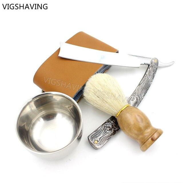 Прямые raozr установки / прямо из нержавеющей стали парикмахерская бритва складной нож