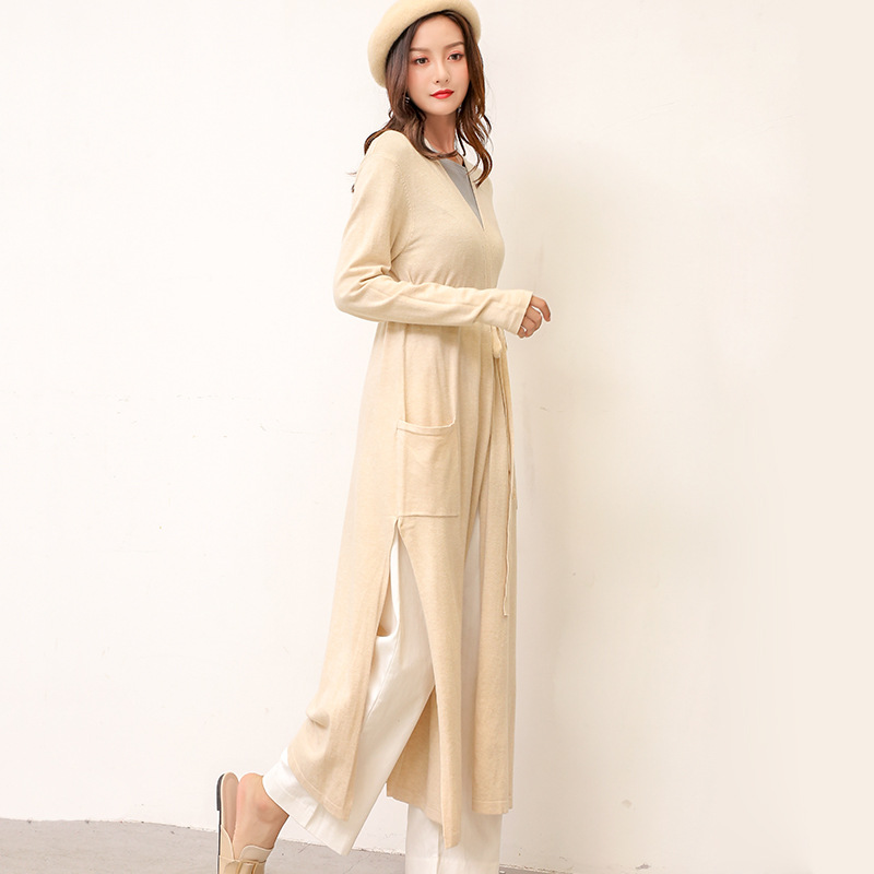 New Long-style Sweater For Women In The Season Of 2019, Cardigan Jacket, Loose Korean Version, Long-sleeved Sweater