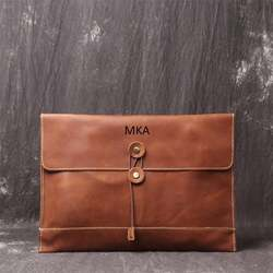 Personalized Handmade Leather Envelope Bag Leather Clutch Purse Envelope Clutch Groomsman Gift Wedding Gift Christmas Gift