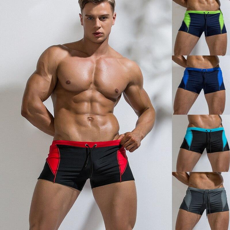 2019 Hot Guys Swimwear Mens Swimming Boxer Trunks Sunga Masculina Swimsuits Speedo Men Zwembroek Jongens Costume Da Bagno Uomo