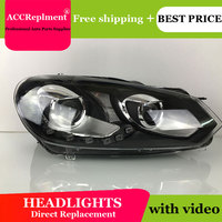 car styling For VW GOLF 6 headlights U angel eyes 2008 2013 For GOLF 6 LED light bar Q5 bi xenon lens LED Bulb projector running