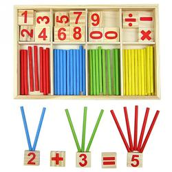 Offre spéciale bébé jouet blocs en bois Montessori jouets éducatifs Intelligence mathématique bâton blocs de construction cadeau