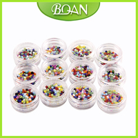 12 Colors 1 2mm Nail Polish Hollow Beads Nail Art Decorations Stickers Acrylic DIY Mix 3D
