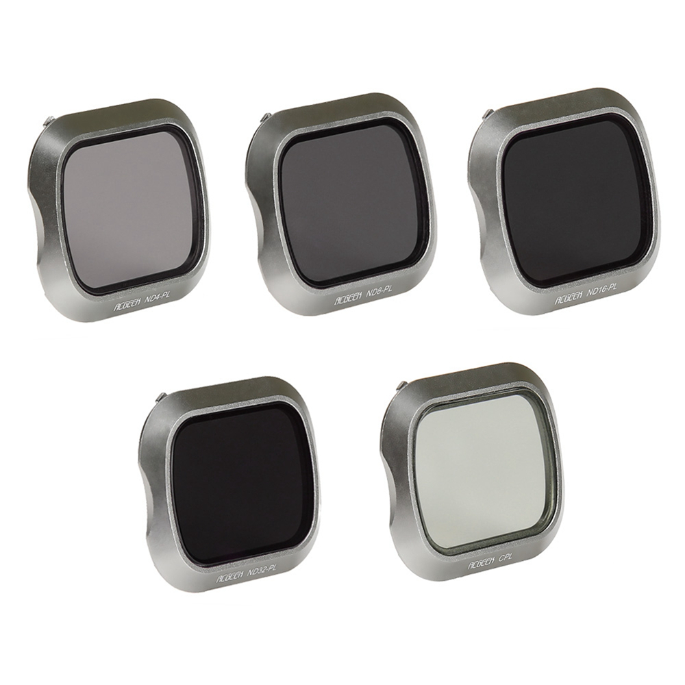 5 pièces Filtre D'objectif De Caméra pour DJI Mavic 2 Pro/Zoom Drone CPL ND4/PL ND8/PL ND16/PL ND32/PL Professionnel Lentille Filtres Accessoires