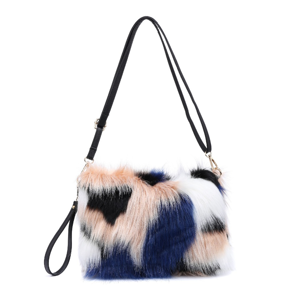 Роскошный вечерний клатч для женщин 2018 хитовый цвет из искусственного меха, сумки на плечо, женские сумки для рук, сумочка для вечеринки, bolsa