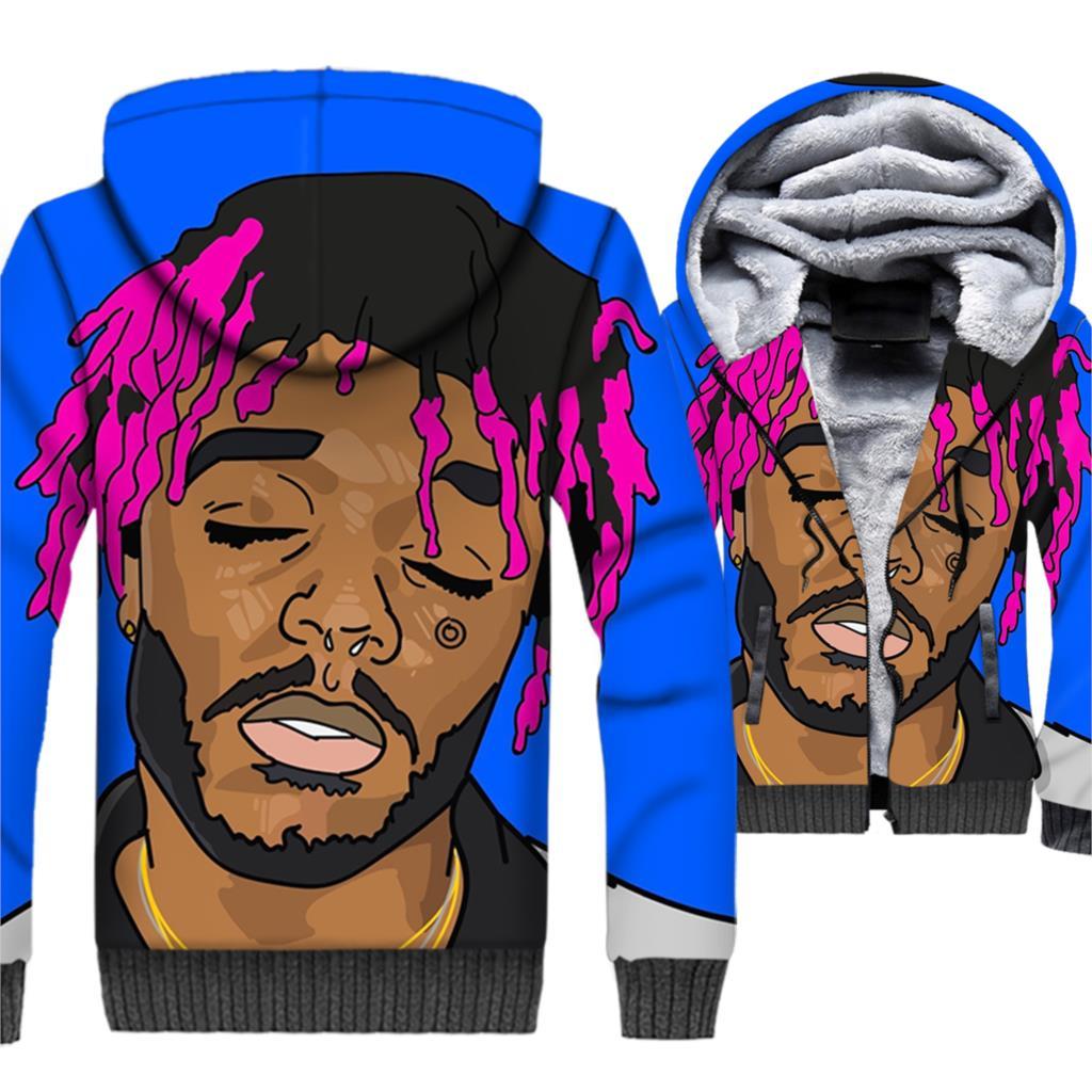 mans hip-hop streetwear hooded clothing novelty XXXTentacion 3D printing jackets men 2019 winter high quality jacket coats male