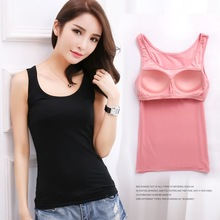 Lady  O-neck warm-keeping tank top clothings women all match Basic vest black gray white purple pink red color