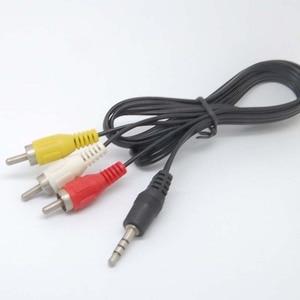 Image 1 - 3.5mm כדי 3 RCA AV/V טלוויזיה וידאו כבל כבל עבור MP3 MP4 PMP מדיה נגן חדש