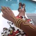 2017 мода металл многослойные жемчужный браслет, женщины преувеличены личности змея форма Браслеты женские ювелирные украшения Ночной Клуб