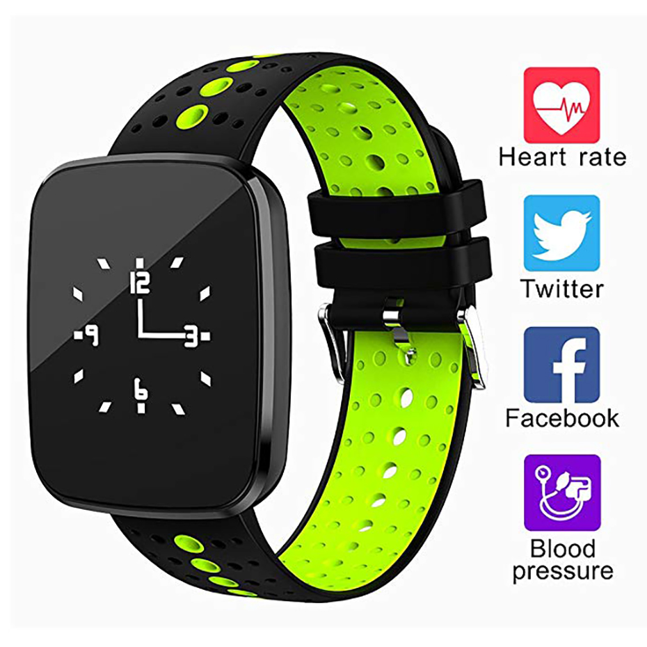 Smart Watch Men Bluetooth 4.0 USB Charging for Android iOS IP67 Waterproof Sport Watch Heart Rate Monitor Fitness Bracelet