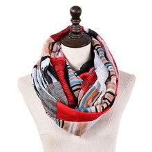 Новинка, полосатый клетчатый снуд, женский шарф-кольцо для девушек, модные радужные шали на шею, женские вискозные аксессуары, красный, синий