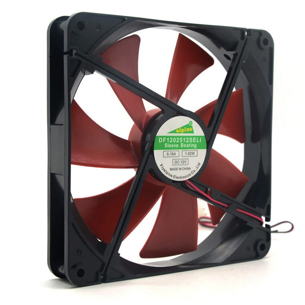 все цены на 2018 High Quality Best silent quiet 140mm pc fan cooling fans 14cm DC 12V 4D plug computer cooler for video card thermo pasta
