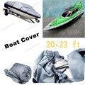 Бесплатная Доставка 20-22 футов 100 дюймов Крышка Лодка Луч Heavy Duty Trailerable V-халл 210D Серый