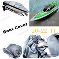 Free Shipping 20-22 ft 100 inch Boat Cover Beam Heavy Duty Trailerable 210D V-Hull  Grey