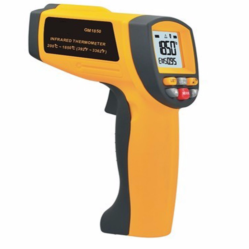 Infrared thermometer Non-contact IR Digital Thermometer Measurement range: 200 ~ 1850Degrees, industrial thermometer tasi 8606 infrared thermometer 32 380 degrees infrared thermometer non contact thermometer industrial and household