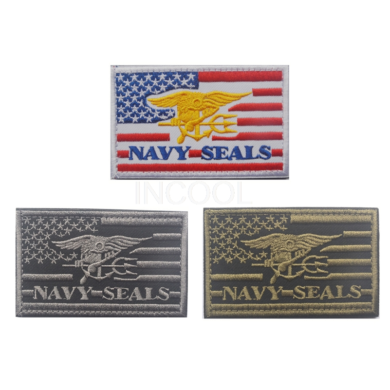 20073440b91 3D Embroidery Patch US NAVY SEALS Tactical Morale Embroidered Badges Fabric  Stickers Military Patches For Jackets
