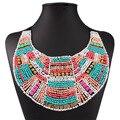 2017 Nueva Moda de Acrílico Collar de Perlas de Bohemia Boho Maxi Collar de la Declaración Grande Collar Étnico de La Vendimia Joyería de Las Mujeres