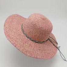 323b7ae18b515 Mulheres verão Grandes Brim chapéus de sol para a menina moda disquete  chapéu de palha Praia chapéu chapeu feminino Dobrado .