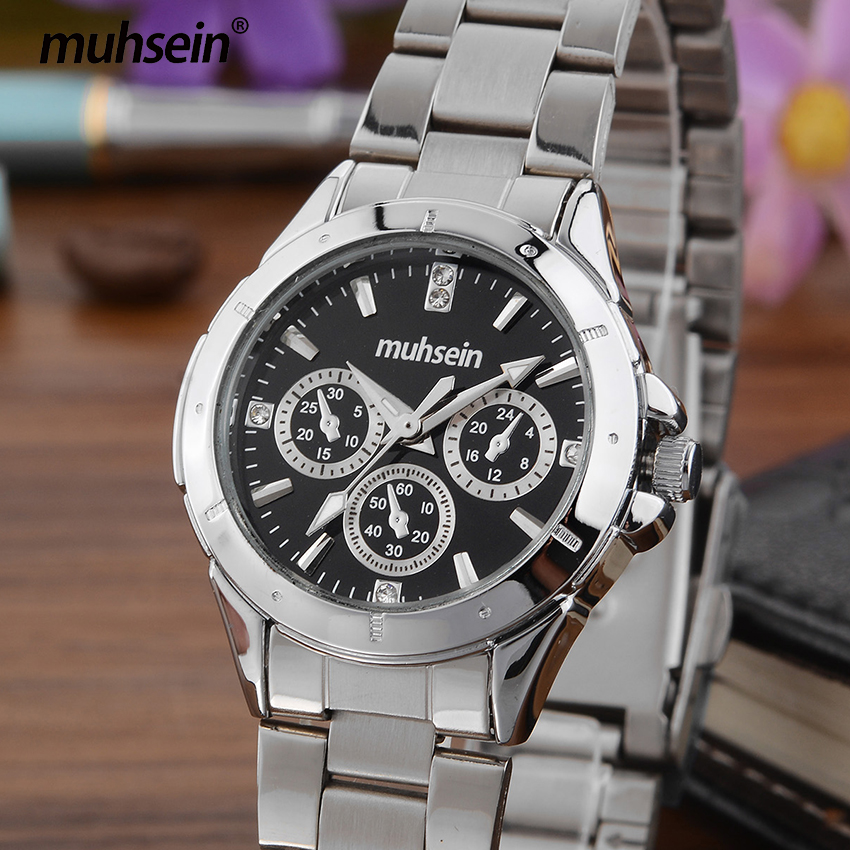 muhsein new fashion casual business waterproof stainless steel business watch quartz watch sport watch ladies fashion watch new business casual watch trend fashion business couple watch