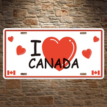 1 pc I love Canada Canadian flag plaques store coffee Tin Plate Sign wall man cave Decoration Metal Art Vintage Poster