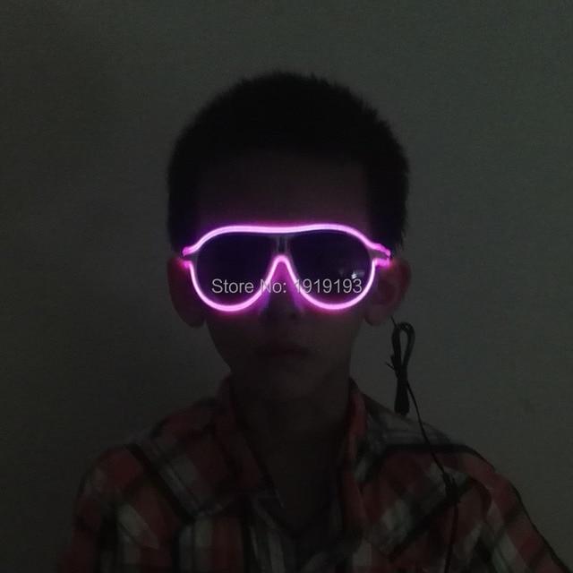 1 STÜCKE Kinder Sound Aktiv EL Draht leuchten Sonnenbrille Blinkende ...