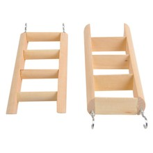 2019 Hamster Ladder Stand Wooden Climbing Toy Perch for Squirrel Guinea Pig
