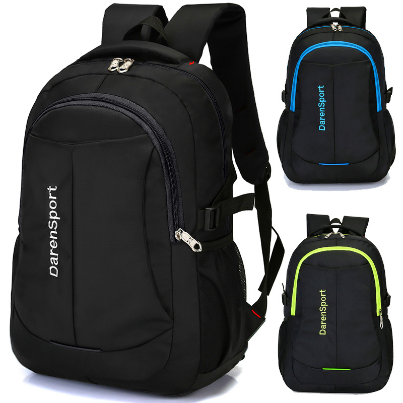 Men's Nylon Computer Solid Color Backpack Leisure Travel Wild Design Large Capacity Student School Bag Handsome Youth Backpack candy color large capacity waterproof nylon backpack brand high quality fresh leisure and travel bag contrast color stripe bag