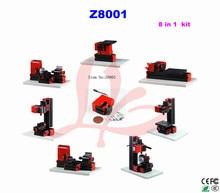 8 in 1 Mini Lathe/Z8001 24W,20000rpm mini lathe machine kit/student instructional lathe/  hobby lathe