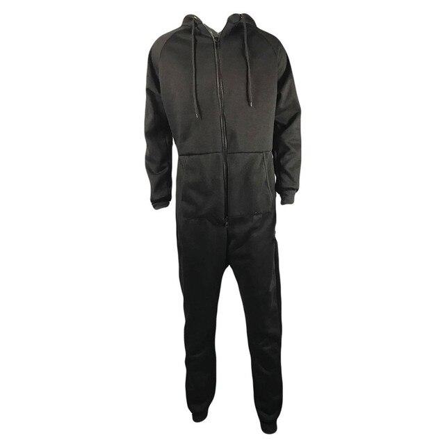 Men Zipper Onesie Autumn Thicken Fleece Hooded Jumpsuit Streetwear Jumpsuit Hoodies Winter One-piece Overalls X9121 5